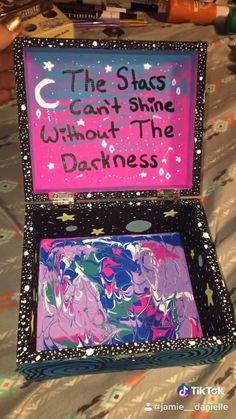 Painted wooden keepsake box! Follow me on TikTok and Pinterest for more! ❤️ #diy #paint #painting #paintingideas #craft #crafting #art #artwork #artvideos #tiktok #followformore