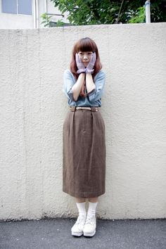 vintage outfit, cdg shoes