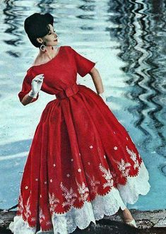 Love this! Red dress by Nina Ricci