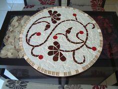 Prato Giratório para mesa | Kelly Borges Mosaicos | Elo7