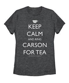 Charcoal 'Ring Carson for Tea' Tee - Women