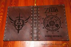 Leather Hyrule Historia book cover made by Photoguy42.
