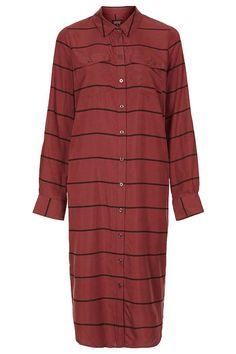 Topshop | Stripe Midi Shirtdress #shirtdress #womenswear #style #fashion #red #topshop