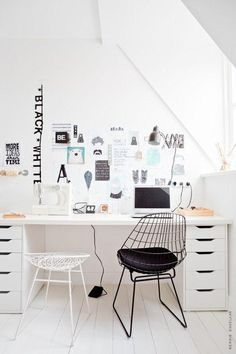 Office Space /  via Mila loveology // ikea Alex drawers