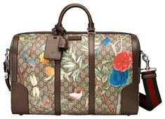 47d3124b5aba Gucci Tian-print Gg Duffel Brown/Multicolor Supreme Canvas and Leather  Weekend/Travel Bag