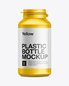 Protein Plastic Bottle Mockup. Preview