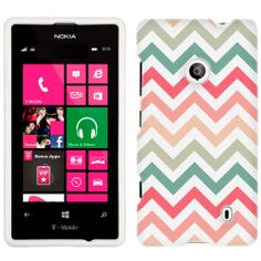 Nokia Lumia 521 Chevron Peach Pink Green Red Pattern Phone Case Cover $8.98/  There's so many cute ones!  But I think this is my favorite so far....