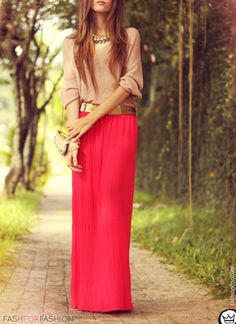 fashforfashion -maxi tan and red/pink #hijab #hijabi #style #fashion