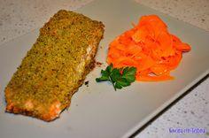 Cucina con Testina: SALMONE IN CROSTA DI PISTACCHIO