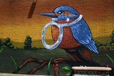 Kingfisher On Brickwall https://madipix.com/kingfisher-on-brickwall/