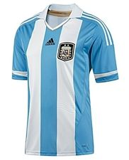 Adidas Argentina Home 2011 Replica Soccer Jersey (Columbia Blue/White)
