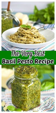 Basil Pesto is simple enough to make but this recipe for the BEST Basil Pesto has a few tricks that make it absolutely outstanding. Quick, easy and freezer friendly, blend up a big batch to take you through the winter months. Basil Pesto Recipes, Herb Recipes, Canning Recipes, Italian Recipes, Dinner Recipes, Sauce Recipes, Basil Pesto Recipe Canning, Fresh Basil Pesto Recipe, Sundried Tomato Recipes
