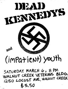 Rock Posters, Band Posters, Punk Tattoo, Dead Kennedys, Punk Poster, New Flyer, Vintage Concert Posters, Music Flyer, Punk Art