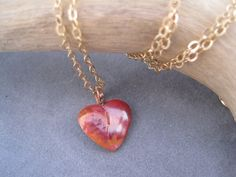 Tiny Copper Heart  Copper Metalwork  Red Copper by trudyjames, $29.00