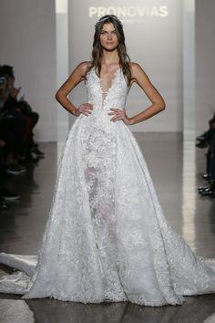 Pronovias Collection Bridal Week 2017 - http://www.stylemepretty.com/2016/10/12/pronovias-collection-bridal-week-2017-wedding-dresses/