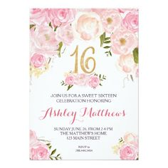 327 best 16th birthday party invitations images in 2018 birthday