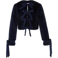 Jonathan Cohen Saga Mink Cropped Jacket ($8,250) ❤ liked on Polyvore featuring outerwear, jackets, navy, mink fur jacket, cropped jacket, long sleeve jacket, blue cropped jacket and mink jacket