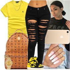 A fashion look from November 2017 featuring Rolex watches. Browse and shop related looks. Boujee Outfits, Baddie Outfits Casual, Jordan Outfits, Swag Outfits For Girls, Cute Outfits For School, Teenage Girl Outfits, Cute Swag Outfits, Cute Comfy Outfits, Teenager Outfits