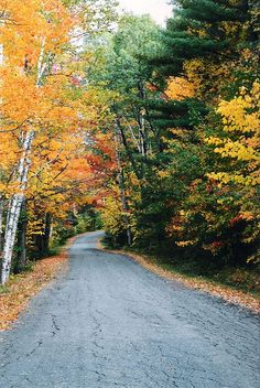 a country road near Belknap, New Hampshire in October of 2001.