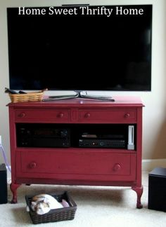 Home Sweet Thrifty Home: Vintage Dresser Turned Media Stand...Meet Susie by jami