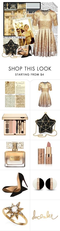 """""""Festive Party Style"""" by fashionistlady ❤ liked on Polyvore featuring Angelo, Matthew Williamson, Aspinal of London, Givenchy, tarte, Christian Louboutin, Anzie and Heidi Swapp"""