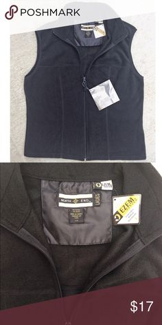 New North End black fleece vest jacket coat New with tags ladies fleece vest. Very functional addition to any wardrobe. Makes Great holiday gift 🎁 Jackets & Coats Vests