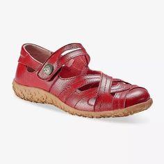 Kožené poltopánky, červené   blancheporte.sk #blancheporte #blancheporteSK #blancheporte_sk  #shoes #topanky #kozenaobuv #koze Baby Confort, Clogs, Espadrilles, Baby Shoes, Sandals, Shopping, Dimensions, Composition, Products