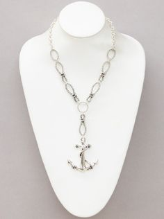 Spring/Summer 2015 TOP TREND Nautical Style.Textured anchor necklaces set. by NAMBASTE on Etsy