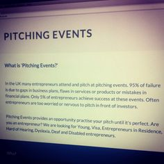 Pitching Events #Website launched this month (March 2014) - www.pitchingevents.co.uk