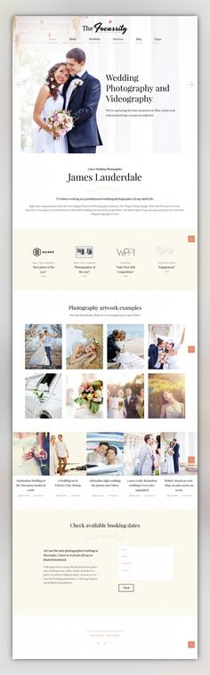 Focussity - Wedding Photography WordPress Theme CMS & Blog Templates, WordPress Themes, Design & Photography, Photography Templates, Photographer Portfolio Templates If you are looking for a wedding photographer WordPress theme that would become your magnet for clients? This template is a great option for you. It shows the best works of the photographer instant...