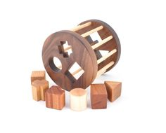 Wooden Shape Sorter Toy - Montessori Inspired Educational Toy For A Baby Or A…