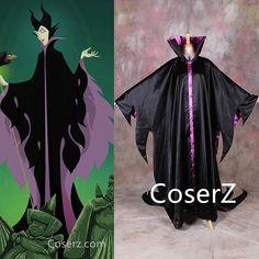 Movie Sleeping Beauty Princess Maleficent witch Cosplay Costume Custom Any size