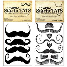Crazy Curl 2 Pack    Everyone w/o a stache needs these, for obvious reasons... They make you devilishly handsome!