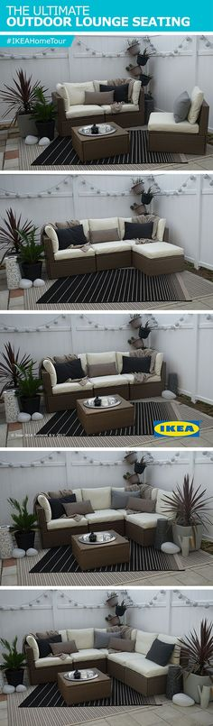 Create a stylish and functional outdoor lounge with the IKEA ARHOLMA outdoor series. The IKEA Home Tour Squad used this in their outdoor makeover for the various configurations the series has that allows you to combine individual pieces to create seating that suits your needs, space and budget. Made of hand-woven plastic rattan, you also get the look and feel of natural rattan, without the upkeep.