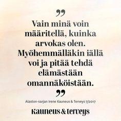 Oman elämän sankari ❤️#sitaatti #kauneusjaterveys #uusilehti Sankari, My Point Of View, Wise Words, Zen, Thoughts, Sayings, Quotes, Instagram, Quotations