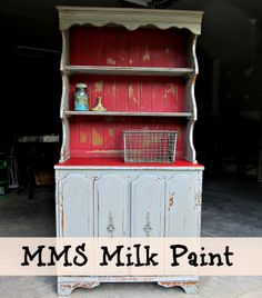 Miss Mustard Seed's Milk Paint display in Shutter Gray and Tricycle - Petticoat Junktion