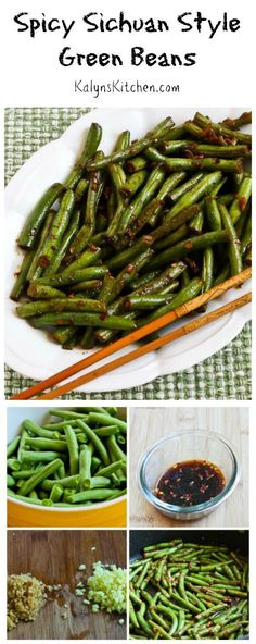 If you have fresh green beans, this Spicy Sichuan Style Green Beans is a delicious way to use them. I've made this over and over since I first tested the recipe in 2011! [from KalynsKitchen.com] #LowCarb #Vegan