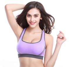 Mainland Fashion Sexy Women Sports Bra Stretch Athletic brassiere Push Up…