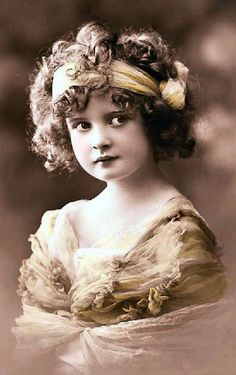 Old photograph of sweet girl with hair band                                                                                                                                                                                 More