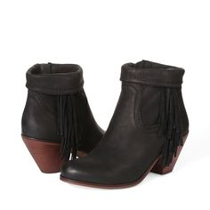 Everyones favorite fringe bootie is back for another season in a variety of fresh colors and materials. Pair with distressed denim and a luxe leather jacketUpper material: Leather/SuedeLining material: FabricHeel height: 2 in