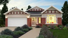Premier Builders Group - The Esprit California Bungalow Facade Styles P, House Styles, California Bungalow, Display Homes, Traditional House, The Hamptons, Facade, Building A House, New Homes