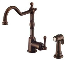 D401157BR by Danze in Atlanta, GA - Tumbled Bronze Single Handle Kitchen Faucet with Spray (California Energy Commission)