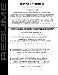 Artist resume, Makeup artists and Resume on Pinterest