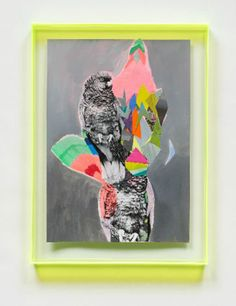 Art with fluorescent frame