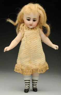Exquisite S & H All-Bisque Doll.