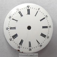 4 St. Emaille Zifferblätter für Taschenuhren, Zifferblatt, pocket Clock, Watches, Wall, Home Decor, Enamel, Watch, Homemade Home Decor, Wristwatches, Clocks