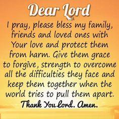 PRAYER FOR MY FAMILY AND LOVED ONES