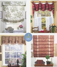 WINDOW SHADES U0026 VALANCES Sewing Pattern   2 Hour Window Shade Treatments