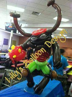 Skylander Giants, Tree Rex, balloon sculpture