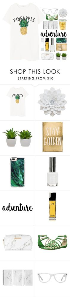 """""""AND YOU GOT ME LIKE AH"""" by macarons-and-mermaids ❤ liked on Polyvore featuring MANGO, Casetify, Topshop, Chanel, Spectrum, Nine West, Umbra, Muse and Ouai"""